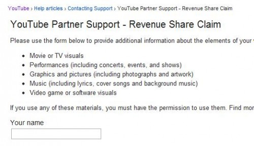 YouTube Partner Support