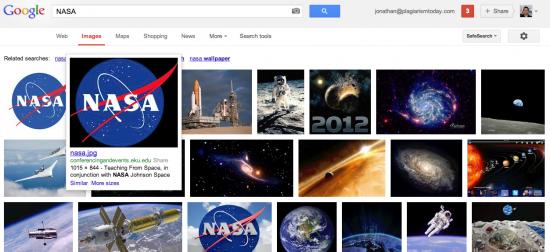 Nasa Google Image Search