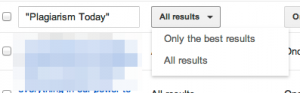 Google Alerts All Results