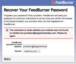 FeedBurner Password