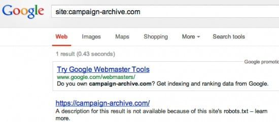 Campaign Google Results