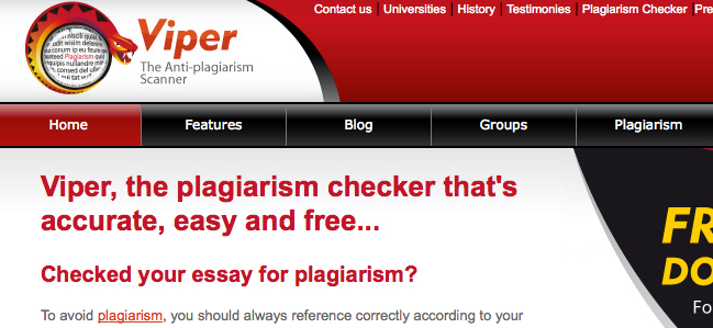 website to check if essay is plagiarized