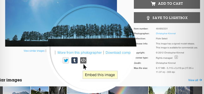 Getty Images Offers Millions of Photos for Free Embedding