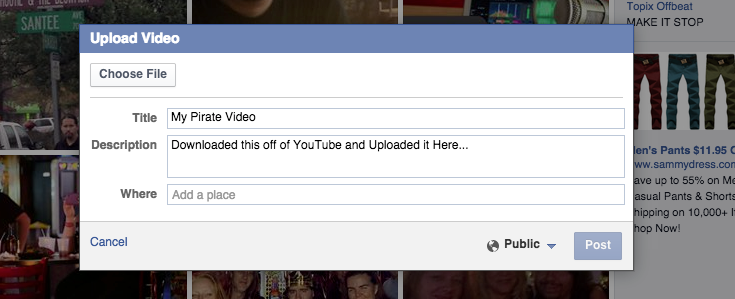 How Facebook Encourages Video Piracy Image