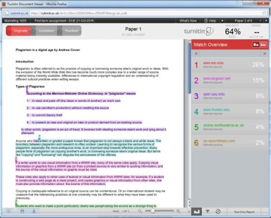 how to avoid plagiarism in turnitin
