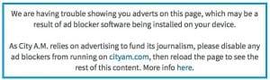 CityAM Blocking