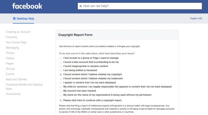 How To Submit A Dmca Notice To Facebook Plagiarism Today