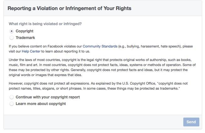 Facebook DMCA 1