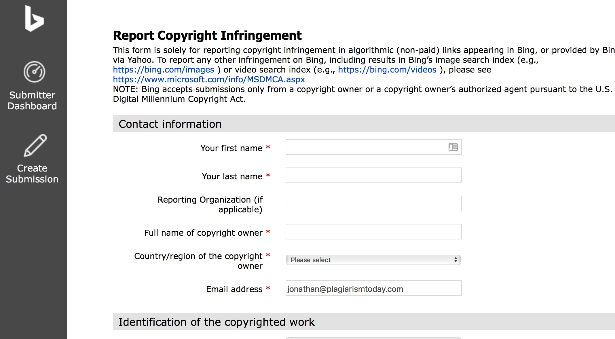 Why Bing's DMCA Form is Better Than Google's