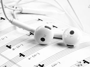 Music Licensing Image Composition and Headphones